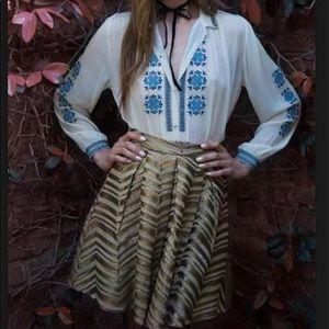Gilded chevron sequin Embellished golden skirt 8